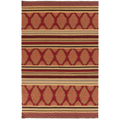 Lucia Redwood 8 ft. x 11 ft. Flatweave Area Rug
