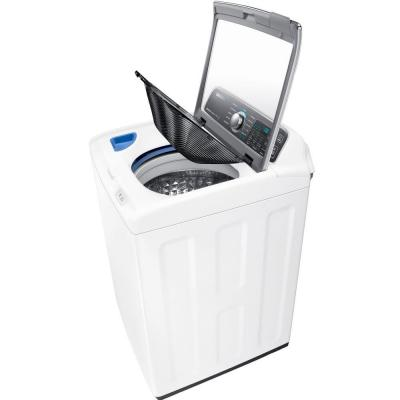 Samsung 4.8 cu. ft. High-Efficiency Top Load Washer with Activewash in White, ENERGY STAR-WA48J7700AW - The Home Depot