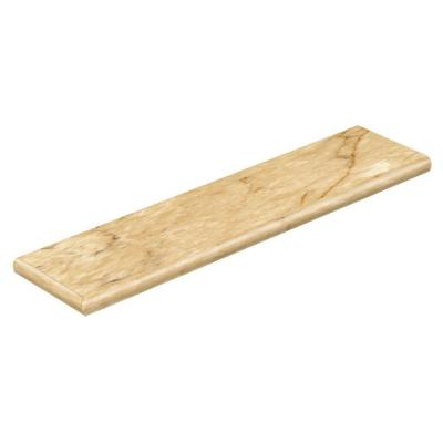 Carrara Tan 94 in. Long x 12-1/8 in. Deep x 1-11/16 in. Height Vinyl Left Return to Cover Stairs 1 in. Thick Product Photo