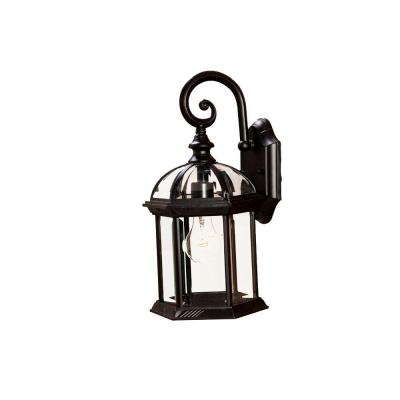 Acclaim Lighting Dover Collection Wall-Mount 1-Light Outdoor Matte Black Light Fixture