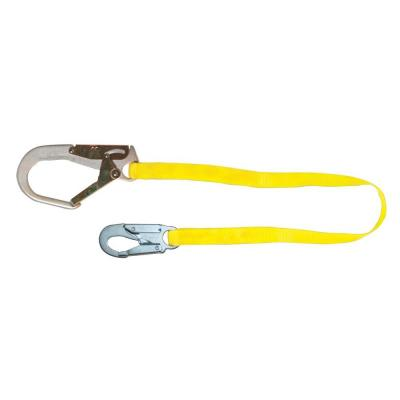 Guardian Fall Protection 6 ft. Double Leg Non-Shock Absorbing Lanyard with Rebar Hook