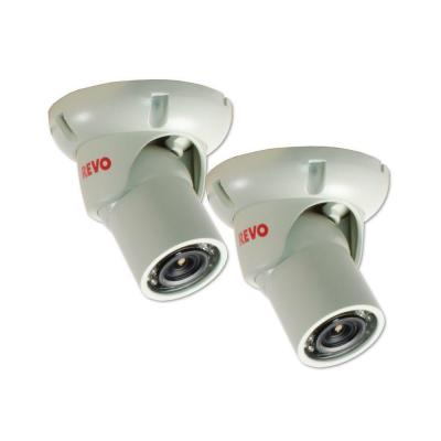 1200 TVL Indoor/Outdoor Mini Turret Surveillance Camera with 100 ft. Night Vision and BNC Conversion Kit (2-Pack) Product Photo