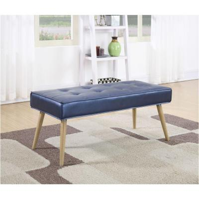 Amity Fabric Bench in Sizzle Azure