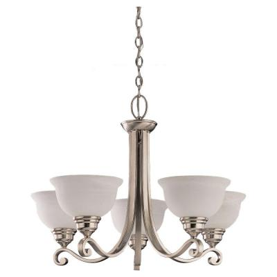 Sea Gull Lighting Serenity 5-Light Brushed Nickel Single Tier Chandelier 39059BLE-962