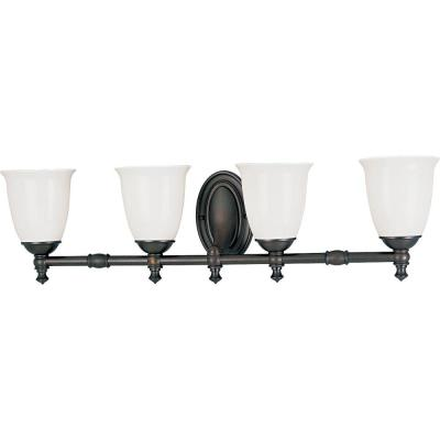 Progress Lighting Victorian Collection Venetian Bronze 4-light Vanity Fixture P3041-74