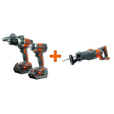 RIDGID 18-Volt Lithium-Ion Kit (2-Piece) with Free Reciprocating Saw Console