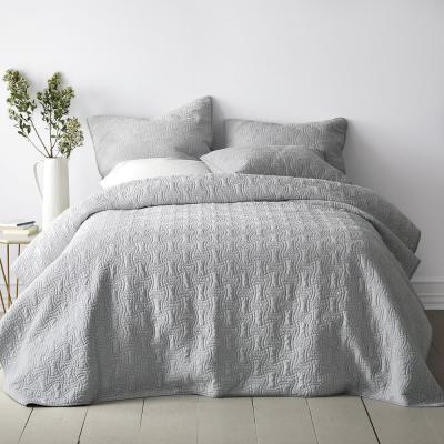 Trevor Washed Velvet Cotton Coverlet