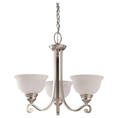 Sea Gull Lighting Serenity 3 Light Brushed Nickel Single Tier Chandelier 39058BLE-962