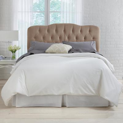 Velvet Cocoa Twin Tufted Headboard