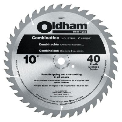 Oldham 10 in. 40 Tooth Industrial Carbide Combination Saw Blade