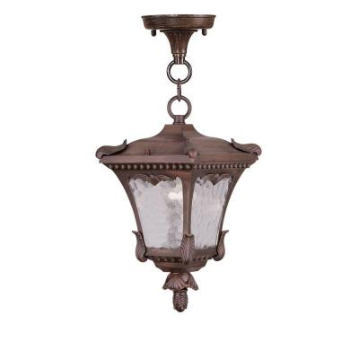 Filament Design Providence 1-Light Hanging Outdoor Imperial Bronze Incandescent Lantern