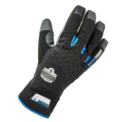 Black Reinforced Thermal Waterproof Utility Gloves