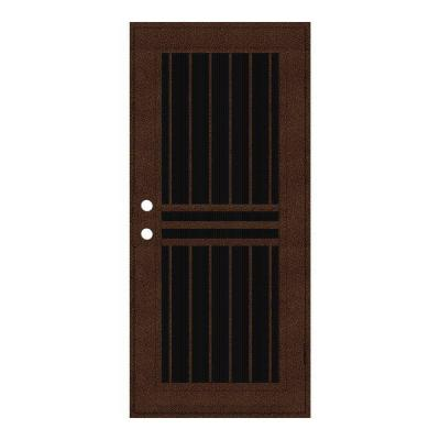 36 in. x 80 in. Plain Bar Copperclad Right-Hand Surface Mount