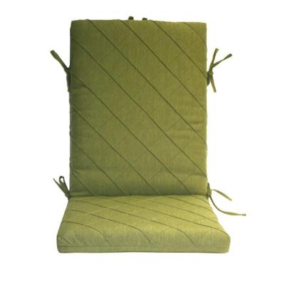 Peak Season Green Quilted High Back Outdoor Chair Cushion