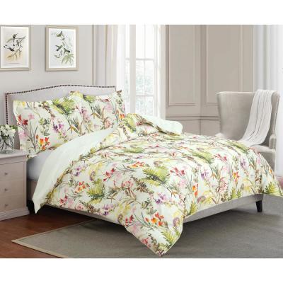 Arboretum Tropical Floral Print Cotton Comforter and Sham Set