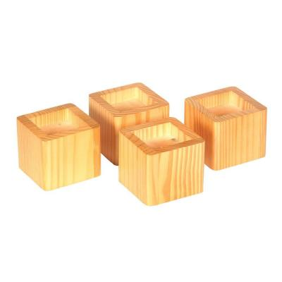 Bed Risers in Honey (Set of 4)