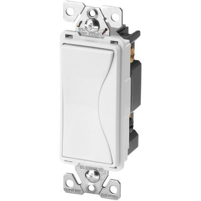 Aspire 15 Amp Back Wire/Push Wire 4-Way Switch, Alpine White Product Photo
