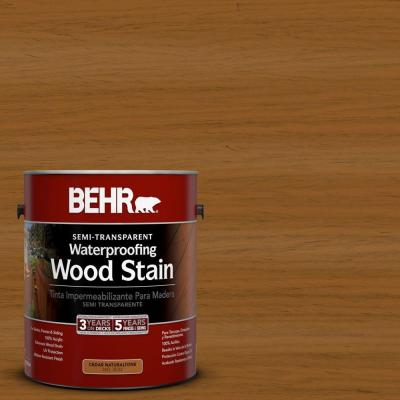BEHR 1-gal. #ST-134 Curry Semi-Transparent Waterproofing Wood Stain