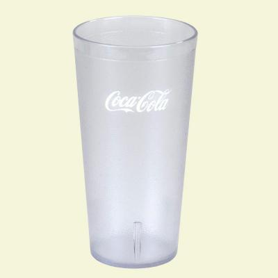 16 oz. SAN Plastic Stackable Tumbler in Clear with Coca Cola
