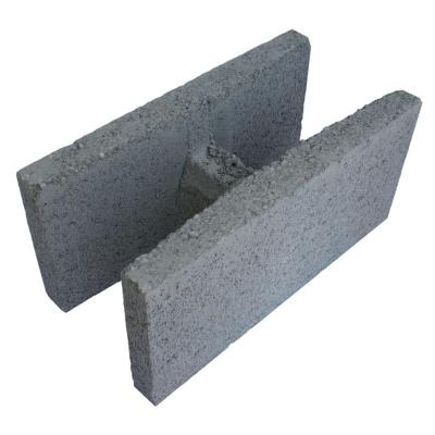 8 in. x 8 in. x 16 in. Gray Concrete Double