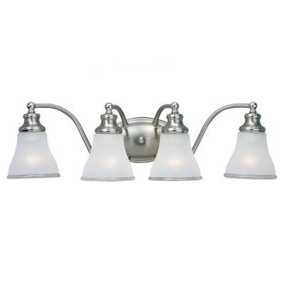Sea Gull Lighting Alexandria 4-Light Two Tone Nickel Vanity Fixture 40012-773