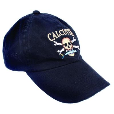 Adjustable Strap Low Profile Baseball Cap in Black with Fade-Resistant Logo