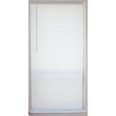 White 1 in. Cordless Vinyl Mini Blind