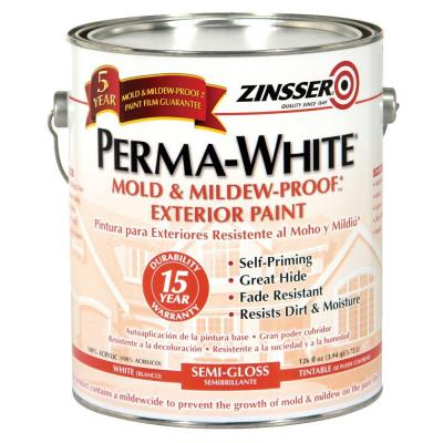 Zinsser 1-gal. Perma-White Semi Gloss Exterior-DISCONTINUED