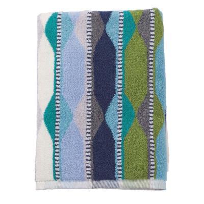 Wave Lengths Geometric Cotton Hand Towel