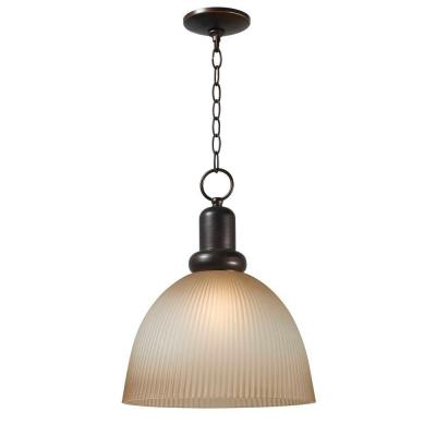 World Imports Loft Euro Bronze 1-Light Glass Pendant AR068B