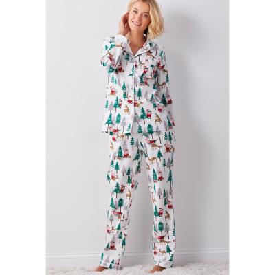 Family Flannel Women's Santa 2-Piece Classic Pajama Set