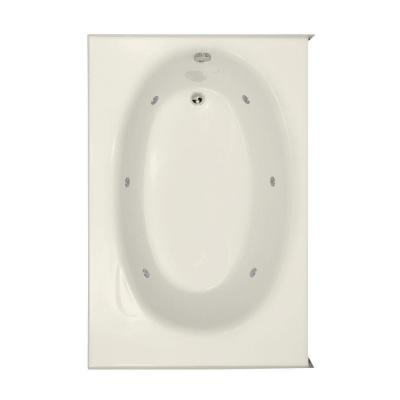 Hydro Systems Kona 5 ft. Right Drain Whirlpool Tub in Biscuit