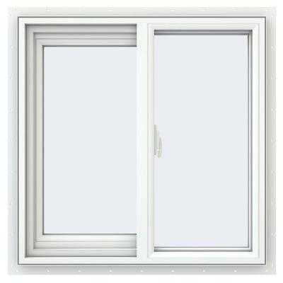 59.5 in. x 35.5 in. V-2500 Series Right-Hand Sliding Vinyl Window - White Product Photo