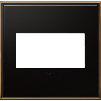 2-Gang 2 Module Wall Plate - Oil Rubbed Bronze with Beaded