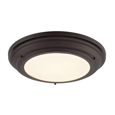 Buellton Collection 2-Light Oil-Rubbed Bronze LED Flushmount
