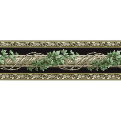 6.83 in. x 15 ft. Black Architectural Ivy Border Product Photo
