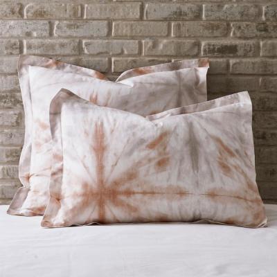 Tie Dye Geometric 200-Thread Count Organic Cotton Percale Sham