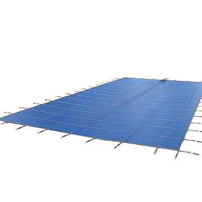 18 ft. x 36 ft. Rectangular Mesh Blue In Ground Safety Pool Cover Product Photo