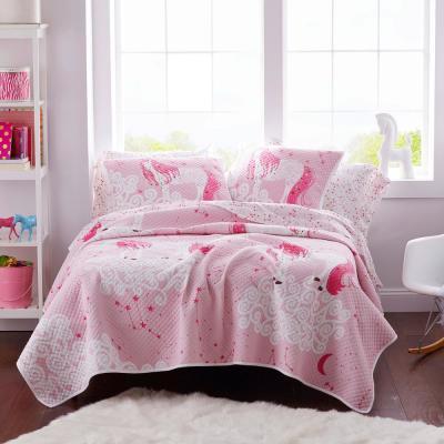 Unicorn Reversible Cotton Jersey Textured Quilt
