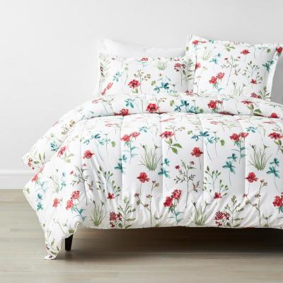 Company Cotton? Wildflower Wrinkle-Free Multicolored Floral Comforter