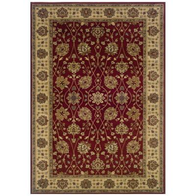 Oriental Weavers Kiawah Channing Red 8 ft. 2 in. x 10 ft. Area Rug
