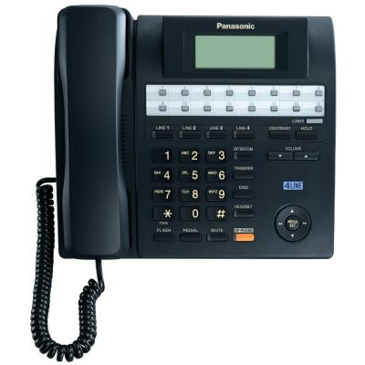 Panasonic 4-Line Corded Speakerphone with Backlit LCD - Black KX-TS4100B