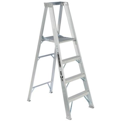 Louisville Ladder 4 ft. Aluminum Platform Step Ladder with 375 lbs. Load Capacity Type IAA Duty Rating