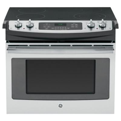 GE 4.4 cu. ft. Drop-In Electric Range with Self-Cleaning in Stainless Steel