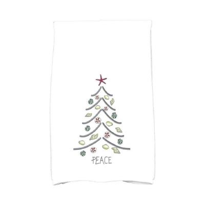 16 in. x 25 in. Sand Tree Holiday Geometric Print Kitchen Towel