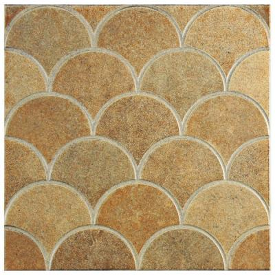 Escama Beige 13-1/8 in. x 13-1/8 in. Ceramic Wall and Floor Tile (7.22 sq. ft. / case) Product Photo