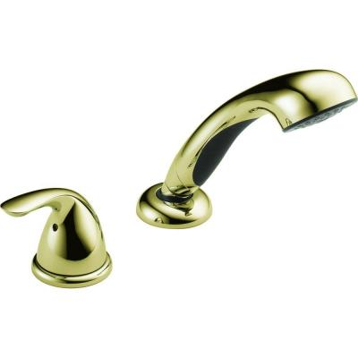 Delta Classic Roman Tub Hand Held Shower in Polished Brass-DISCONTINUED