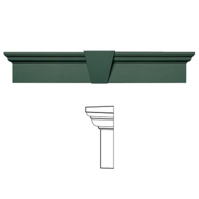 6 in. x 33-5/8 in. Flat Panel Window Header with Keystone in 028 Forest Green Product Photo