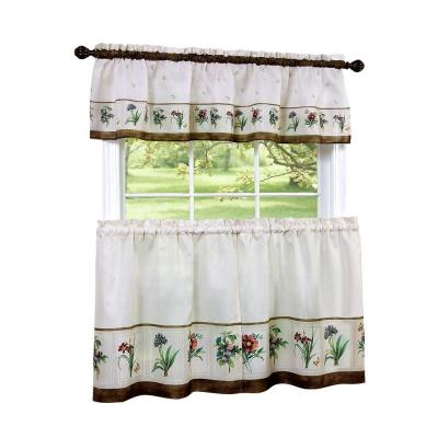 Piece Kitchen Curtain Tier and Valance SetYMC001176  The Home Depot