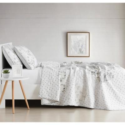 Kamala Floral 200-Thread Count Cotton Quilt